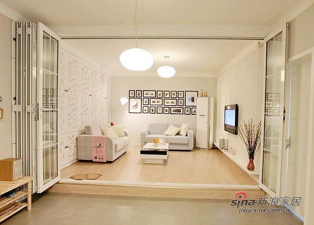 混搭 二居 客厅图片来自用户1907655435在79平小资女的现代创意生活88的分享
