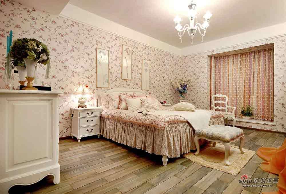田园 二居 卧室图片来自用户2737791853在田园碎花 满屋情调尽在105平大家里65的分享
