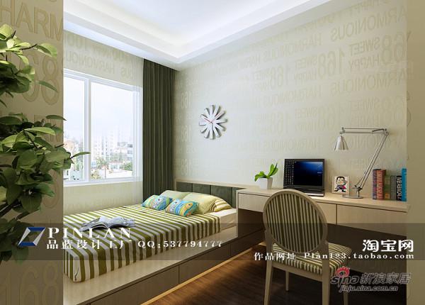 浅绿色小孩房设计2