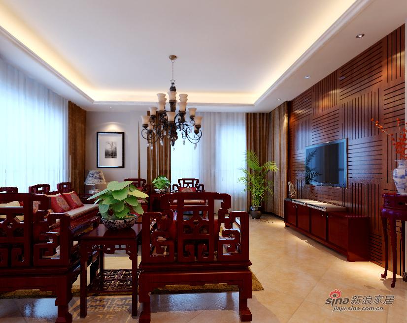 中式 四居 客厅图片来自用户1907662981在长滩壹号184新中式四居51的分享