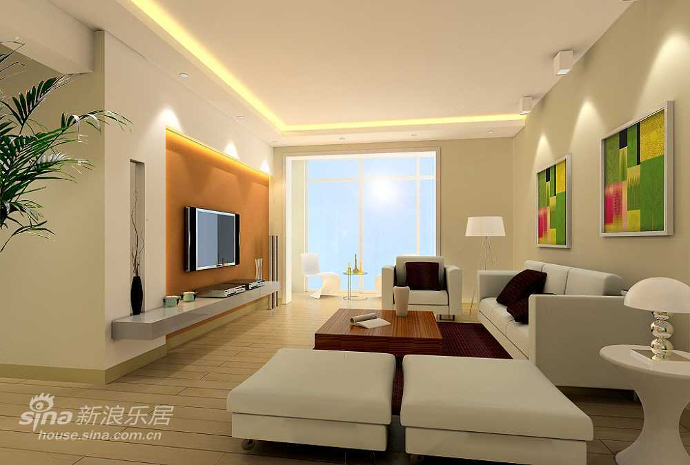 简约 三居 客厅图片来自用户2557979841在明亮时尚简约设计51的分享