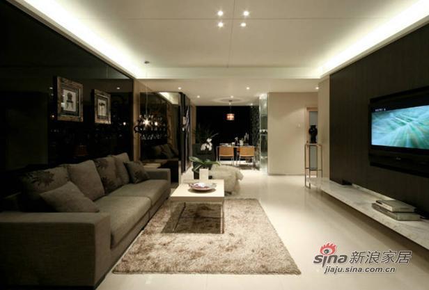 简约 三居 客厅图片来自用户2737735823在9万打造140平时尚黑色系新居91的分享
