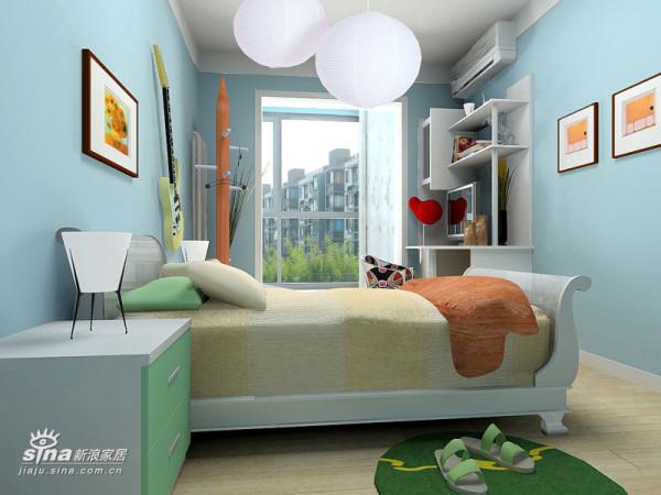 简约 三居 卧室图片来自用户2739153147在54290元精心打造125平米缤纷色彩的居家空间43的分享