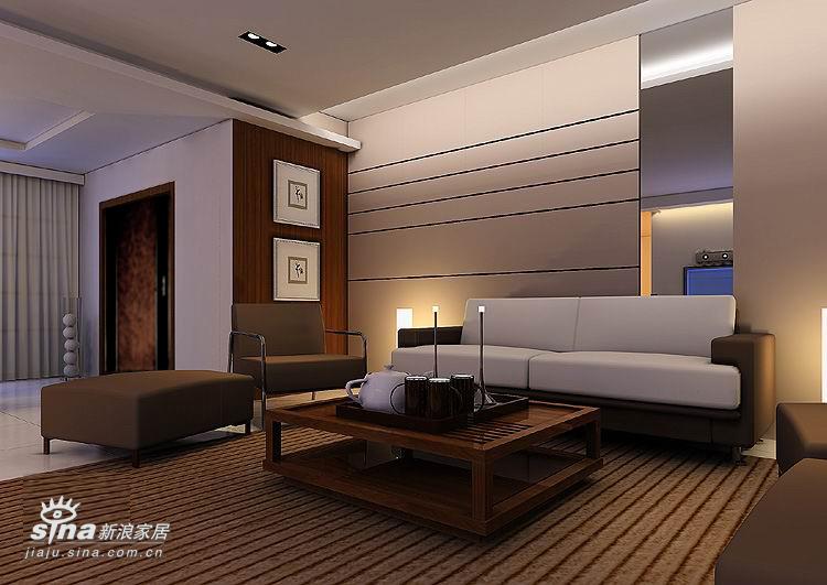 简约 二居 客厅图片来自用户2559456651在两室两厅107平 现代简约54的分享