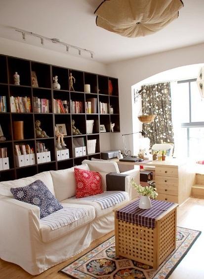 客厅 清新 书房图片来自用户2771736967在屌丝变文艺 11款极具文艺时尚气息的客厅的分享