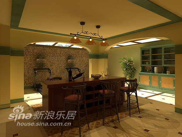 欧式 别墅 客厅图片来自用户2772856065在聚通装潢别墅设计案例-万科琥珀墅53的分享