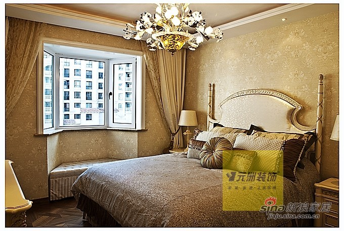 欧式 三居 卧室图片来自用户2746889121在奢华欧式元洲装饰案例84的分享
