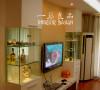 客厅电视背景玻璃柜