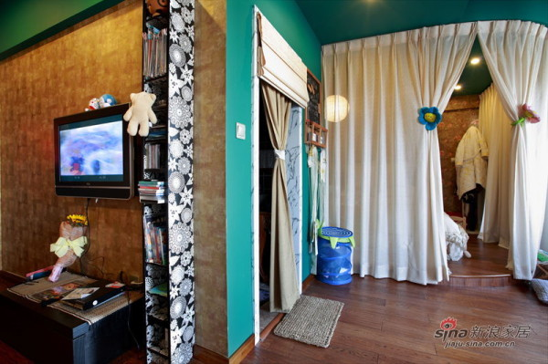 电视墙和卧室视角