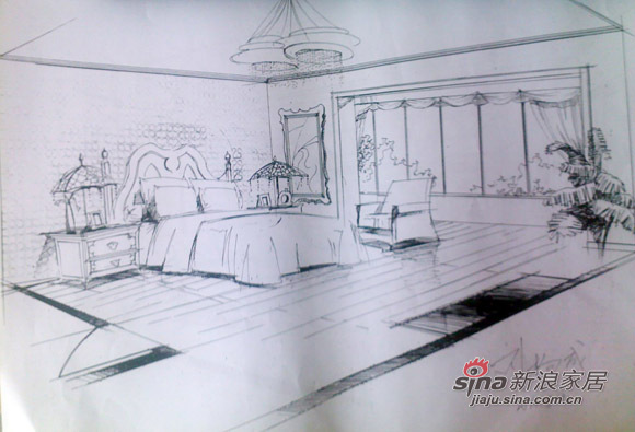 欧式 跃层 客厅图片来自用户2746889121在13万元秀手绘加效果展示的简欧范74的分享