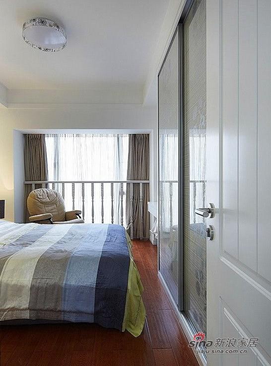 简约 三居 卧室图片来自用户2737759857在127㎡时尚三居室实景图86的分享