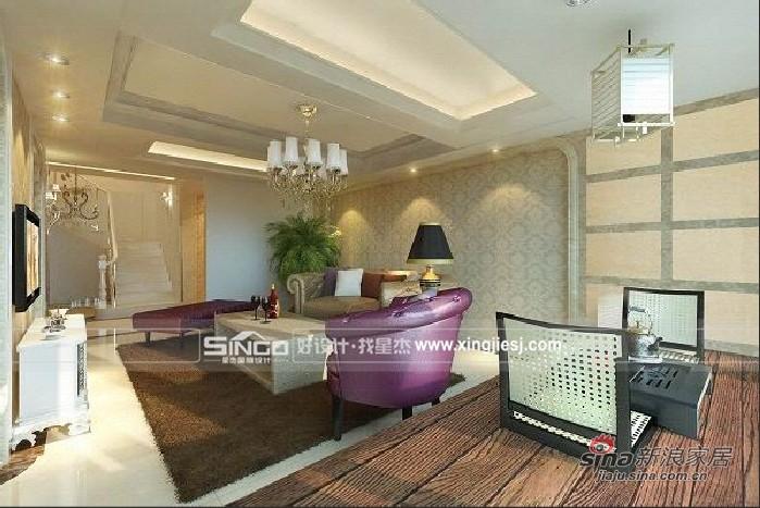 欧式 别墅 客厅图片来自用户2746869241在简约欧式奢华主义别墅53的分享