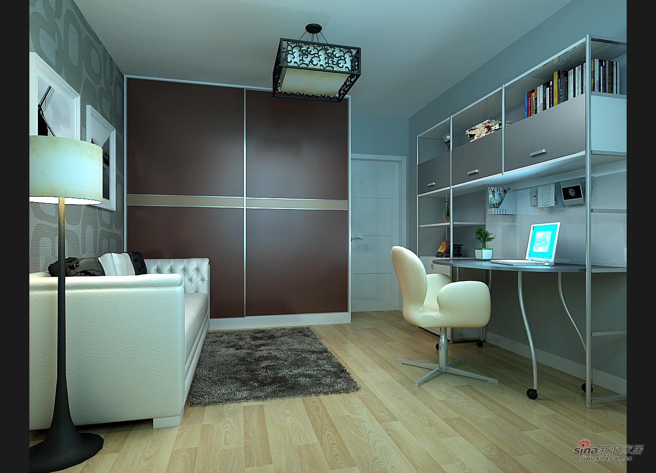 简约 二居 书房图片来自用户2738813661在华城泊郡现代简约两居68的分享
