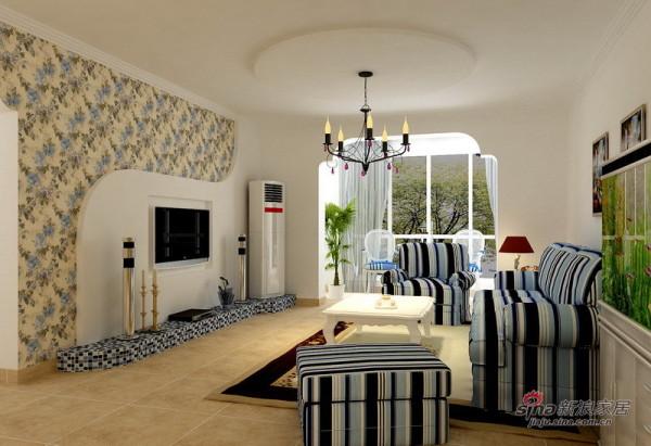 装修设计-世茂铂翠湾三居室地中海风效果图