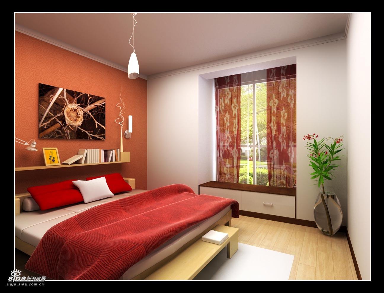 简约 二居 卧室图片来自用户2738093703在实创装饰上京新航线户型设计案例98的分享
