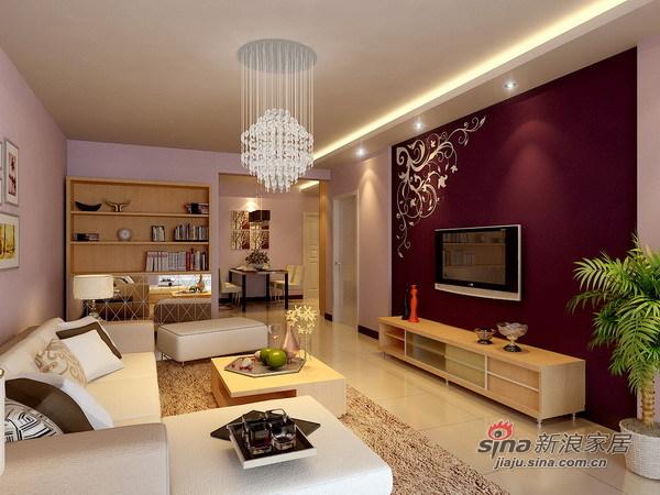 简约 二居 客厅图片来自用户2739153147在现代简约温馨两居98的分享