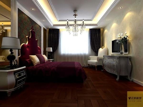 180平欧美风格三室二厅装修效果图
