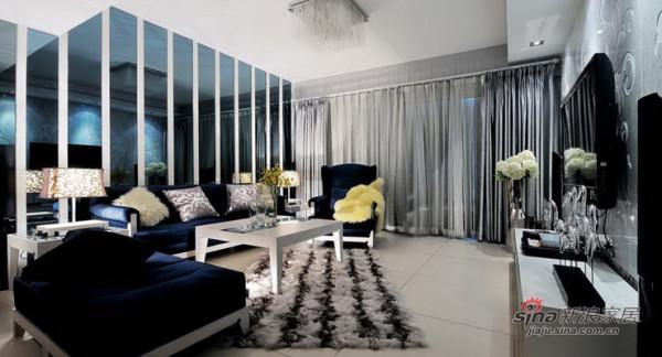 黑白灰风格90平三居室装修设计