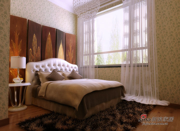美式 三居 卧室图片来自用户1907685403在【精美高清-沈阳实创装饰】26的分享
