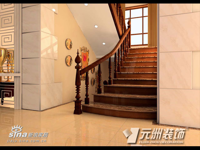 欧式 别墅 楼梯图片来自用户2746953981在昌平果园别墅11的分享