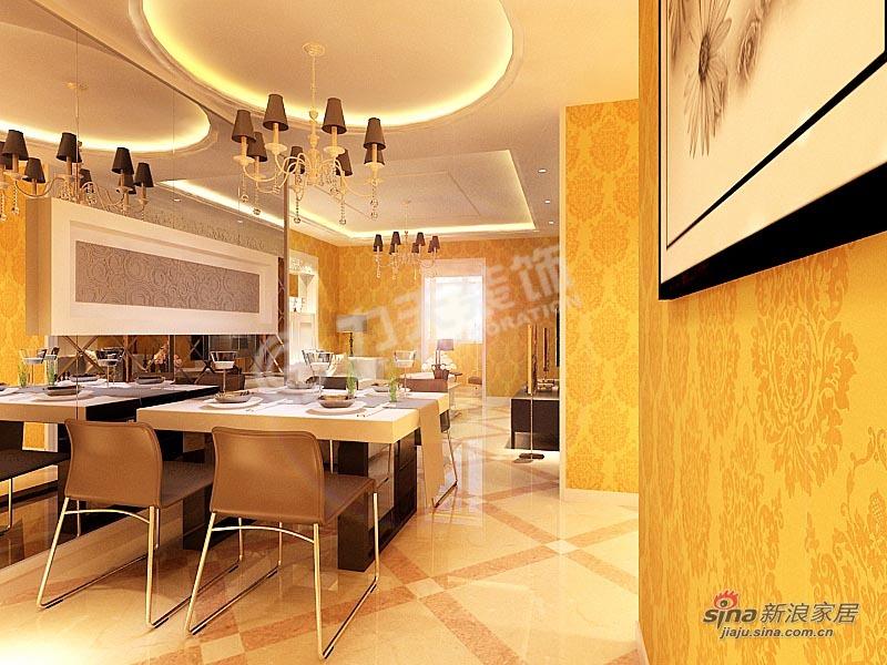 欧式 二居 餐厅图片来自阳光力天装饰在102平华城领秀欧式两居85的分享