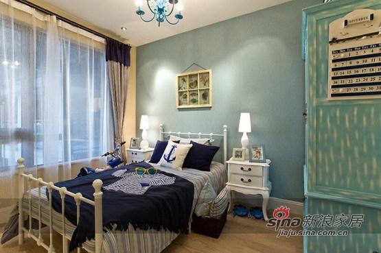 地中海 二居 卧室图片来自用户2756243717在5.8万打造恒祥城100平地中海两居67的分享