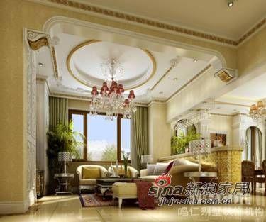 欧式 别墅 客厅图片来自用户2745758987在鸣仁460平法式风格原创设计作品73的分享