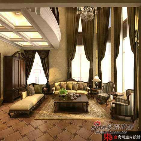 欧式 别墅 客厅图片来自用户2772873991在200平低调奢华欧式风62的分享