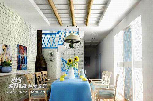 欧式 别墅 餐厅图片来自用户2746953981在希腊风格的别墅设计18的分享