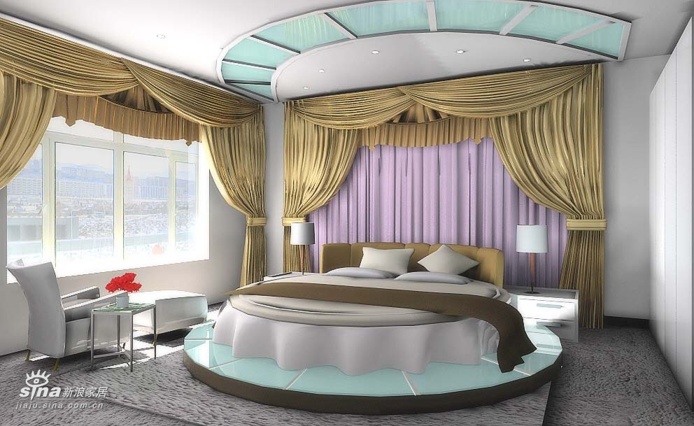 简约 二居 卧室图片来自用户2737735823在现代简约轻舟装饰90的分享