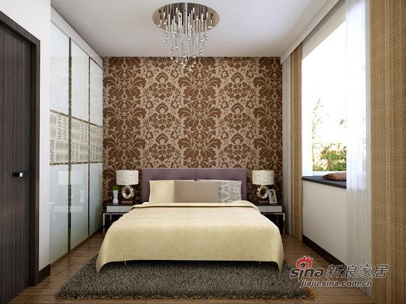 地中海 二居 卧室图片来自用户2756243717在5万打造80平米实用简约2居室61的分享