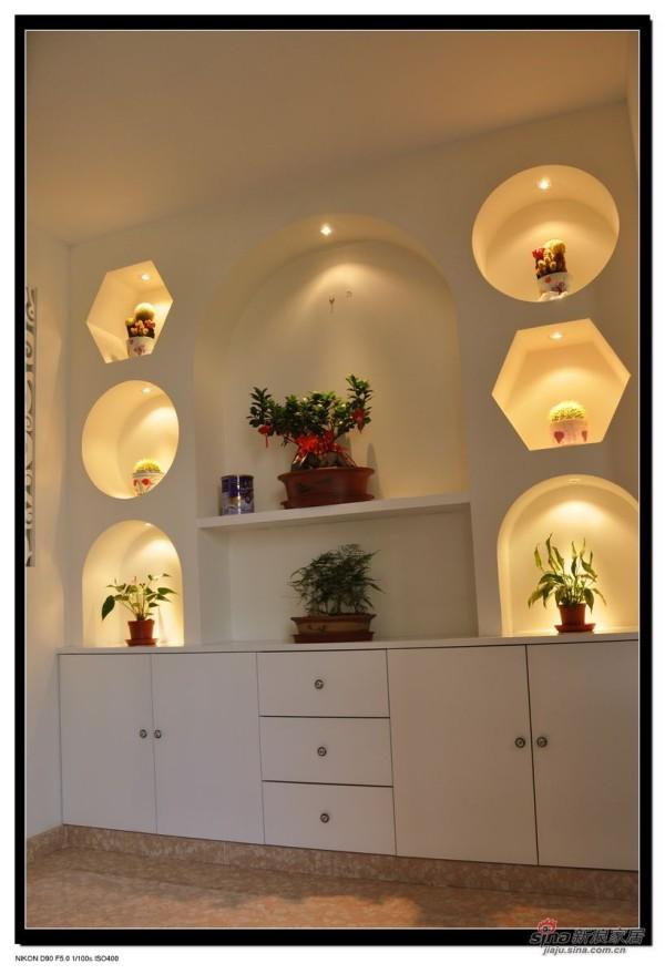 餐厅装饰柜实景图