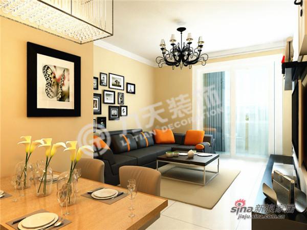 简约 三居 客厅图片来自阳光力天装饰在北宁湾-三室两厅一厨一卫-现代简约33的分享