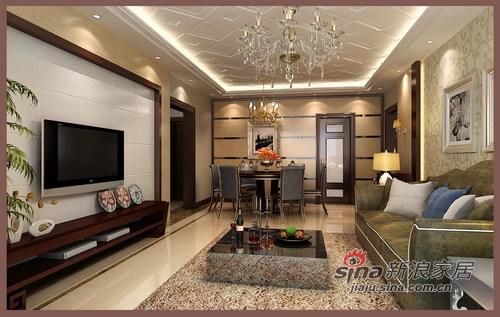 简约 三居 客厅图片来自用户2738829145在9万营造现代时尚136平三居28的分享