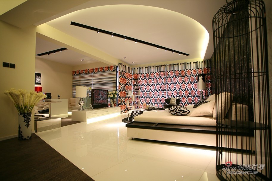 简约 二居 客厅图片来自用户2737759857在6.7万改造115平黑白大2居58的分享