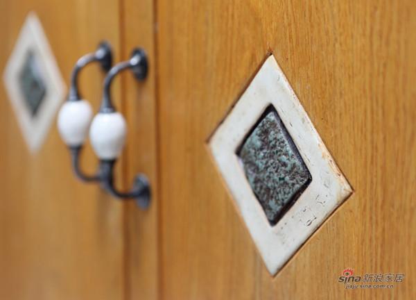 面盆柜门镶嵌花砖