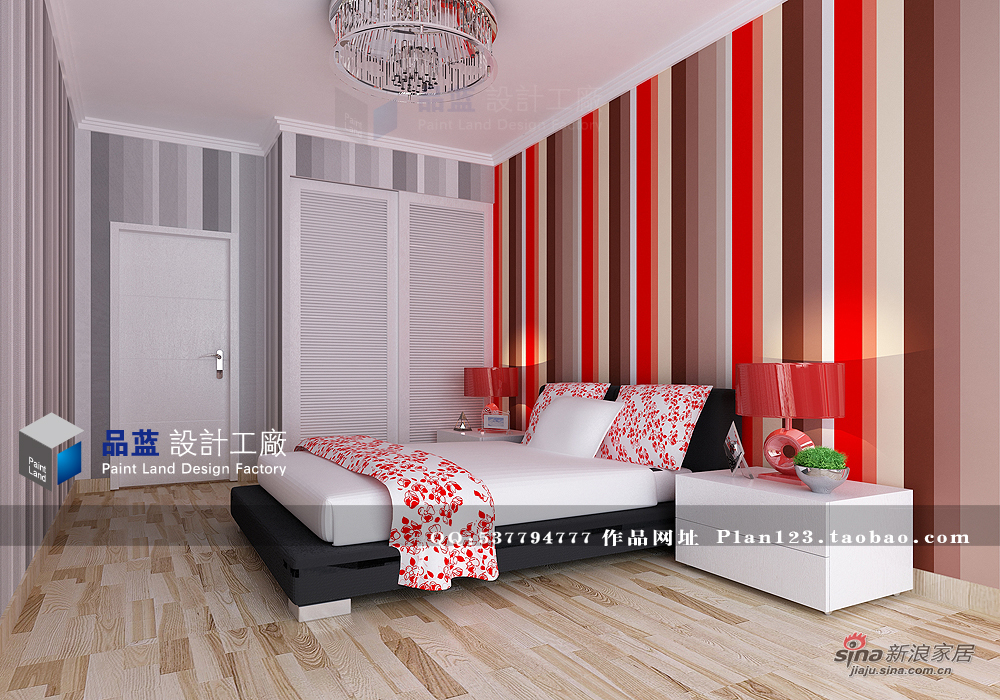 简约 三居 卧室图片来自用户2738813661在【高清】13万打造粉红女郎120平米样板房72的分享