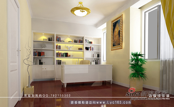 欧式 复式 书房图片来自用户2746948411在阳光100欧式复式楼54的分享