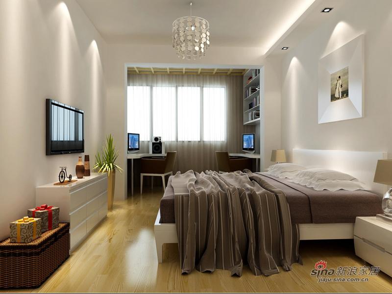 简约 二居 卧室图片来自用户2738093703在爱侣全包7.8万打造90平2居12的分享