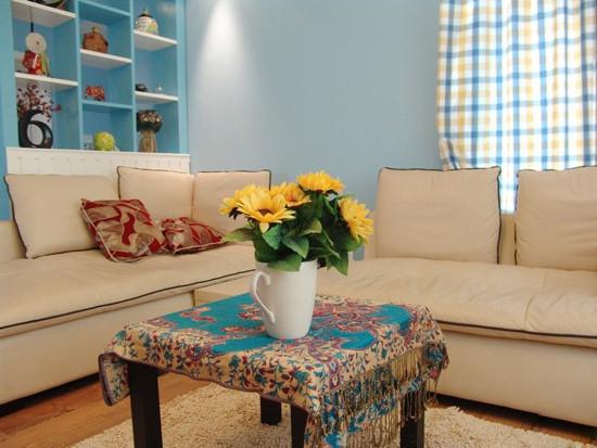 地中海 三居 客厅 田园 80后图片来自用户2757320995在7.2万铸造地中海风情三居室56的分享