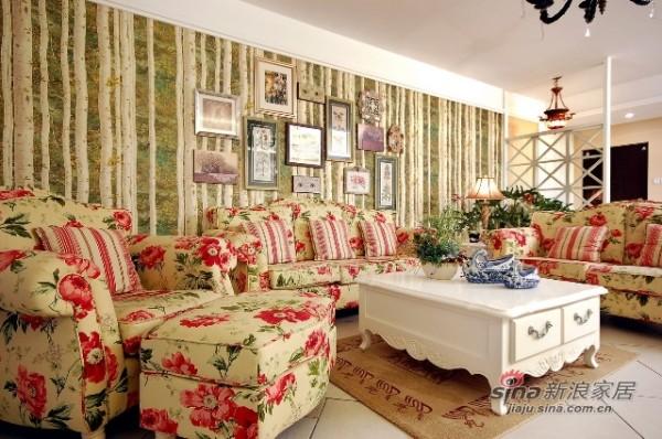 碎花布艺沙发,搭配欧式的家居,彰显雅致主