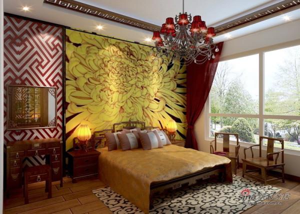 三层主卧室床头背景墙