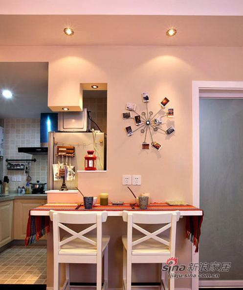 田园 二居 餐厅图片来自装修微日记在新婚夫妻打造60平浪漫婚房35的分享