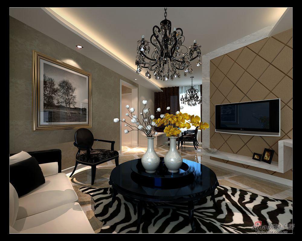 现代 二居 客厅图片来自用户2771250253在芭蕾雨小区设计效果图24的分享