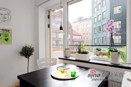 简约 一居 餐厅图片来自用户2737759857在白领女4万巧装49平1居一体式单身公寓70的分享