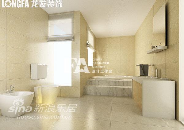 简约 别墅 卫生间图片来自用户2558728947在公司总裁自建520平 极简中的奢华21的分享