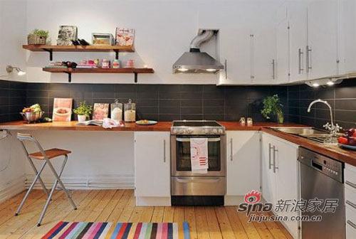 简约 二居 厨房图片来自用户2738093703在58平方的蜗居尽显宜家简洁风66的分享