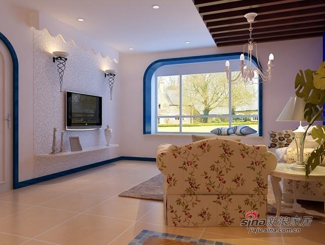 简约 二居 客厅图片来自用户2739378857在120平蔚蓝色地中海大三居46的分享