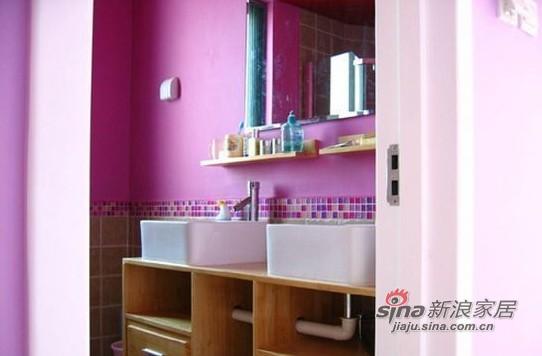 混搭 复式 卫生间图片来自用户1907689327在12万装130平惊艳色彩复式94的分享