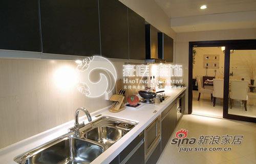 中式 三居 厨房图片来自用户1907658205在6万装138平新中式家48的分享